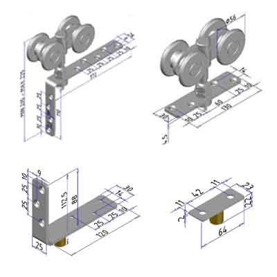 Komponen - Komponen Pintu Lipat
