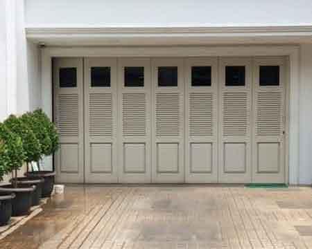 Pintu Garasi - Type : W380 D4 Kaca Square