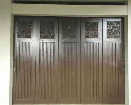Pintu Garasi - Type : Laser Cutting Abstract