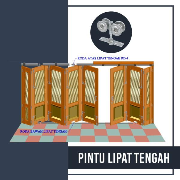 Pemasangan - Pintu Lipat Tengah